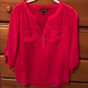 Bright red blouse